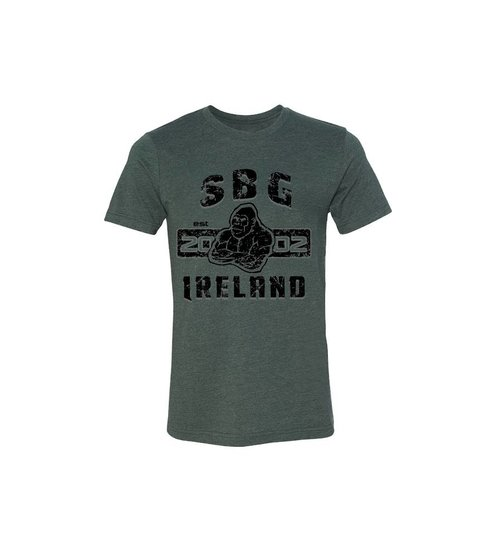 SBG IRELAND GORILLA WAR WEAR EMBLEM T SHIRT - GUN GREY