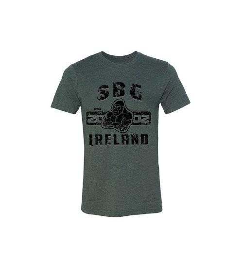 SBG IRELAND GORILLA WAR WEAR EMBLEM T SHIRT - GUN GREY