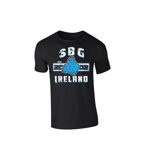 SBG IRELAND GORILLA WAR WEAR EMBLEM T SHIRT - MIDNIGHT BLACK