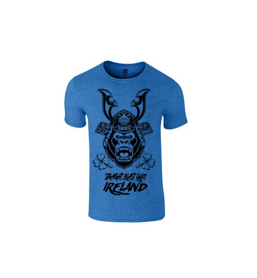 SBG IRELAND GORILLA WAR WEAR SAMURAI T SHIRT - ARASHI HEATHER