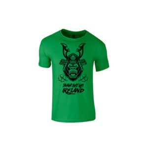 KIDS SBG IRELAND GORILLA WAR WEAR SAMURAI T SHIRT- CELTIC GREEN