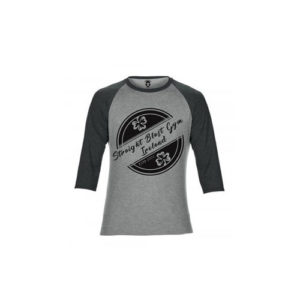 SBG IRELAND GORILLA WAR WEAR ORIGIN 3/4 LENGTH BASEBALL TEE - STONE GREY/GRANITE